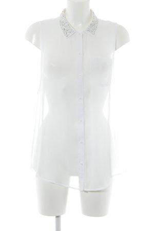 Abercrombie & Fitch Transparenz-Bluse weiß Elegant