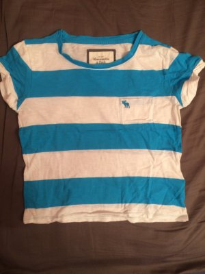 Abercrombie & Fitch T-shirt court blanc-turquoise