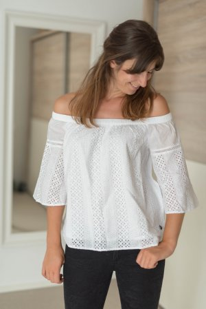 Abercrombie & Fitch Tunika Off Shoulder Lochmuster