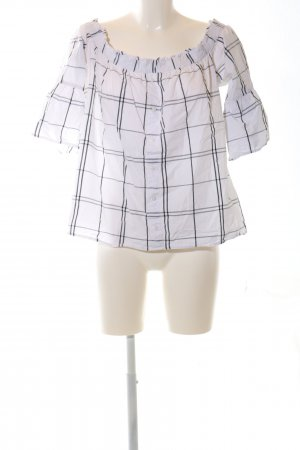 Abercrombie & Fitch Blusa a tunica bianco-nero stampa integrale stile casual