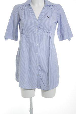 Abercrombie & Fitch Tunikakleid weiß-stahlblau Streifenmuster Business-Look