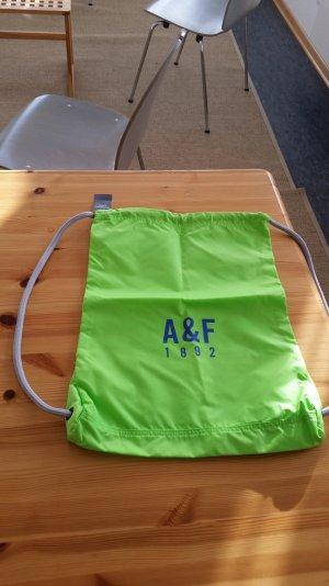 Abercrombie & Fitch Turnbeutel Gymbag neongrün Neu