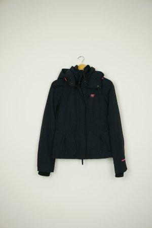 Abercrombie & Fitch Between-Seasons Jacket dark blue-neon pink