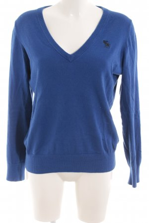 Abercrombie & Fitch V-halstrui blauw casual uitstraling