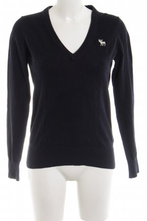 Abercrombie & Fitch V-halstrui donkerblauw casual uitstraling