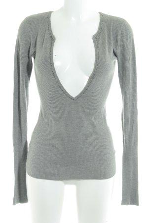 Abercrombie & Fitch Jersey con cuello de pico gris look casual