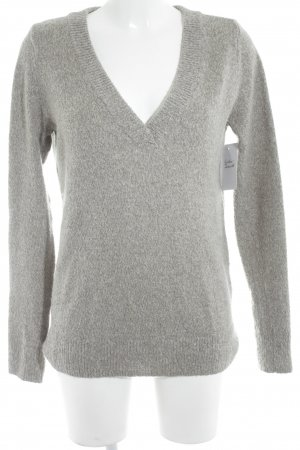 Abercrombie & Fitch V-Neck Sweater grey fluffy