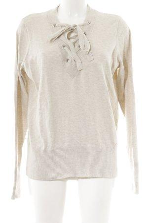 Abercrombie & Fitch V-Ausschnitt-Pullover hellbeige Business-Look