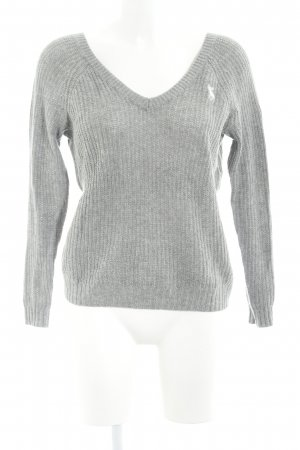 Abercrombie & Fitch V-Ausschnitt-Pullover hellgrau Casual-Look