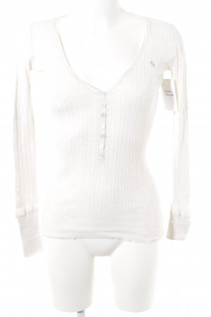 Abercrombie & Fitch V-Neck Shirt natural white casual look