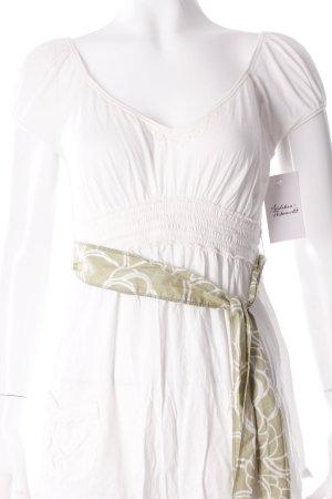Abercrombie & Fitch V-Ausschnitt-Shirt wollweiß-hellgrün Paillettenverzierung