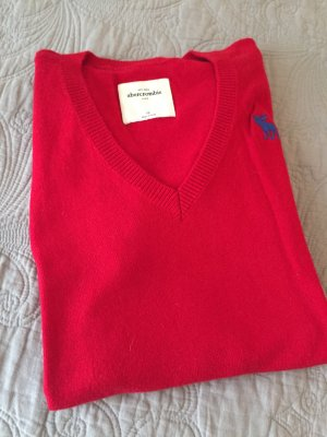 Abercrombie& Fitch V-Pullover Rot S
