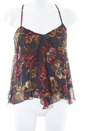 Abercrombie & Fitch Haut à volants motif de fleur style romantique