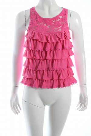 Abercrombie & Fitch Volanttop pink Beach-Look