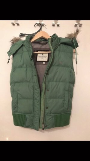 Abercrombie & Fitch Donsvest groen