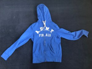 Abercrombie & Fitch Hooded Vest blue