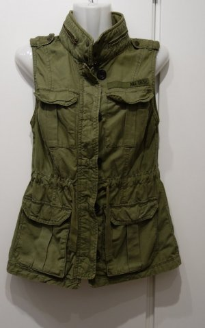 Abercrombie & Fitch Weste Utility Style Khaki Gr. S (36/38) Army Military Look