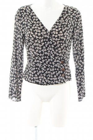 Abercrombie & Fitch Wikkelblouse zwart-room volledige print casual uitstraling