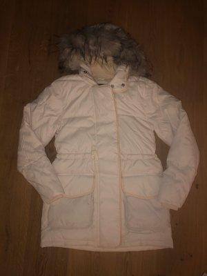 Abercrombie & Fitch Winterjacke Parka Coat weiß/creme
