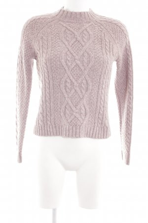 Abercrombie & Fitch Cable Sweater pink cable stitch casual look