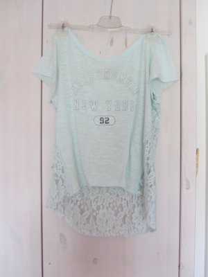Abercrombie & Fitch Cropped Shirt baby blue