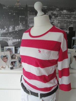 Abercrombie & Fitsch * %Summer Sale% Süßes Sommer Longsleeve * pink-weiß * S=36/38