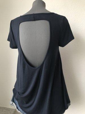 Abercrombie fliesendes Tunika T-Shirt rückenfrei S 36 Blau