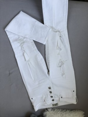 Abercrombie & Fitch High Waist Jeans white
