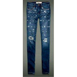 Abercrombie Jeans mit Strass gr 24 00 xs