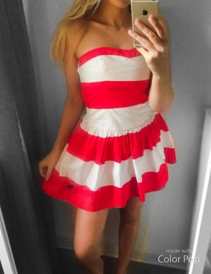 Abercrombie & Fitch Babydoll Dress red-white cotton