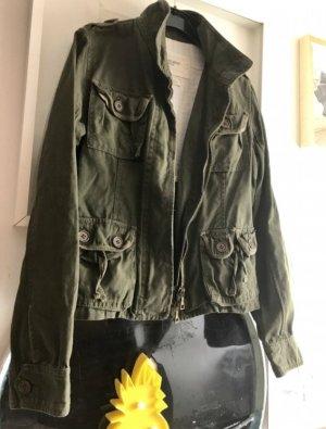 Abercrombie & Fitch Military Jacket khaki-green grey