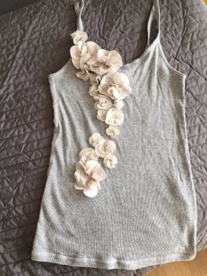 Abercrombie & Fitch Top long gris clair