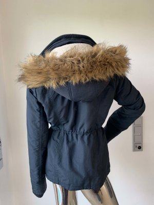 Abercrombie & Fitch Outdoor jack donkerblauw Polyester