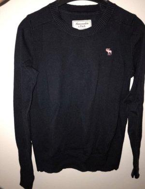 Abercrombie & Fitch Short Sleeve Sweater dark blue
