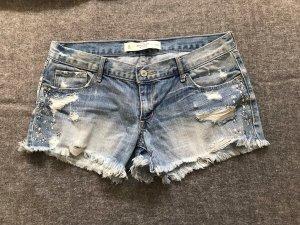 Abercrombie & Fitch Short en jean bleu azur
