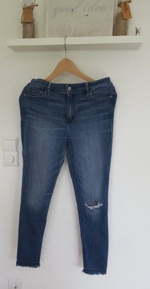 Abercrombie Skinny High Waist Ankle destroyed