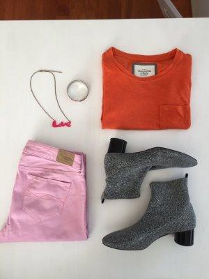 Abercrombie skinny Sommer Jeans hose rosa 26
