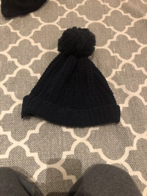 Abercrombie & Fitch Knitted Hat dark blue