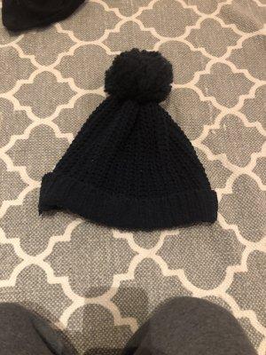 Abercrombie & Fitch Chapeau en tricot bleu foncé