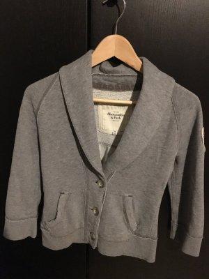 Abercrombie Sweat Blazer grau weich XS