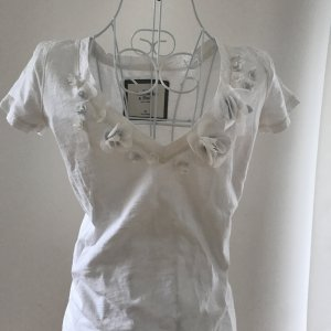 Abercrombie & Fitch V-Neck Shirt white