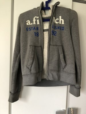 Abercrombie & Fitch Fur Jacket grey-white