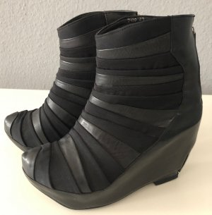 Miista Platform Booties black leather