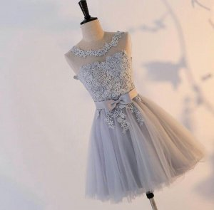 Abi/ Hochzeit/Party Kleid in gr.M, Neu spitzen/Tüll , grau