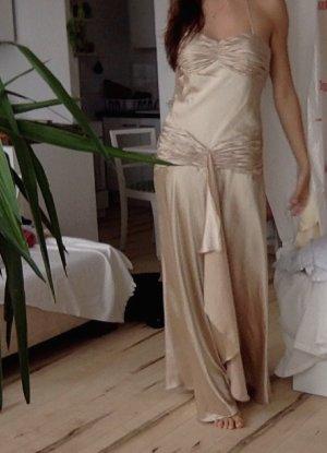 Abiball Kleid lang, Beyonce, beige gold, 38, super Zustand