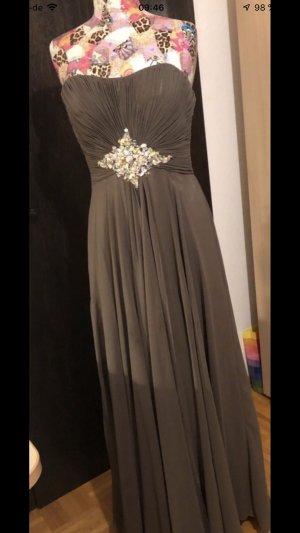 Abiballkleid/Abendkleid in der Farbe taupe