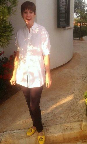 Abitifico BLACK Linnen blouse wit