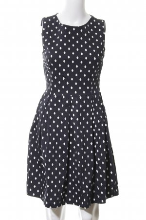 About You A Line Dress dark blue-white spot pattern business style