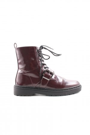 About You Lace-up Boots bordeaux-black casual look
