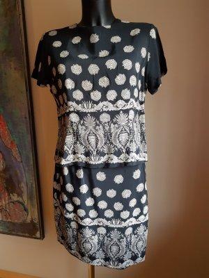 Vintage Woven Twin Set black-white rayon